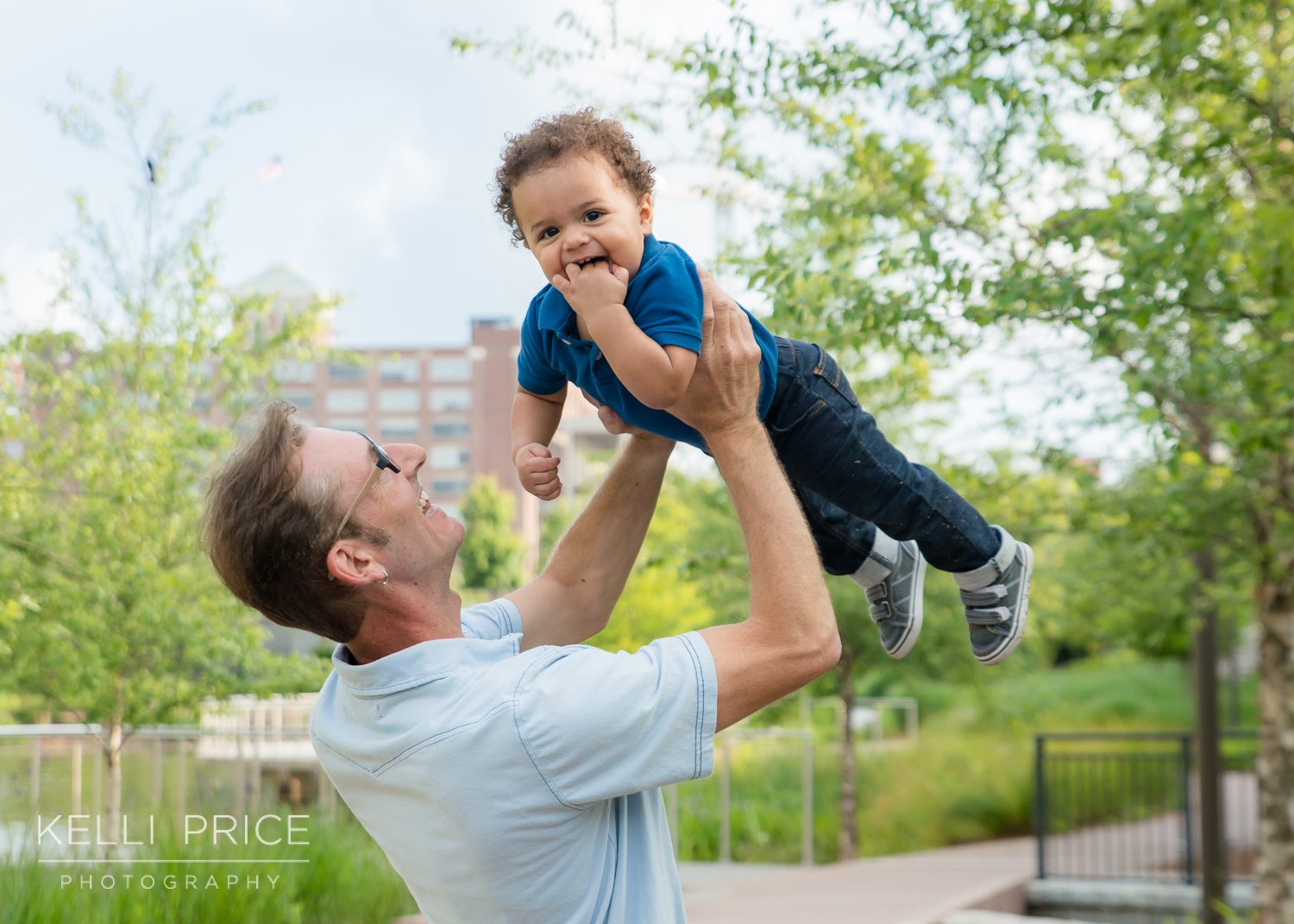 Fun with Daddy - Family Session - Historic Old Fourth Ward Park, Atlanta, Georgia