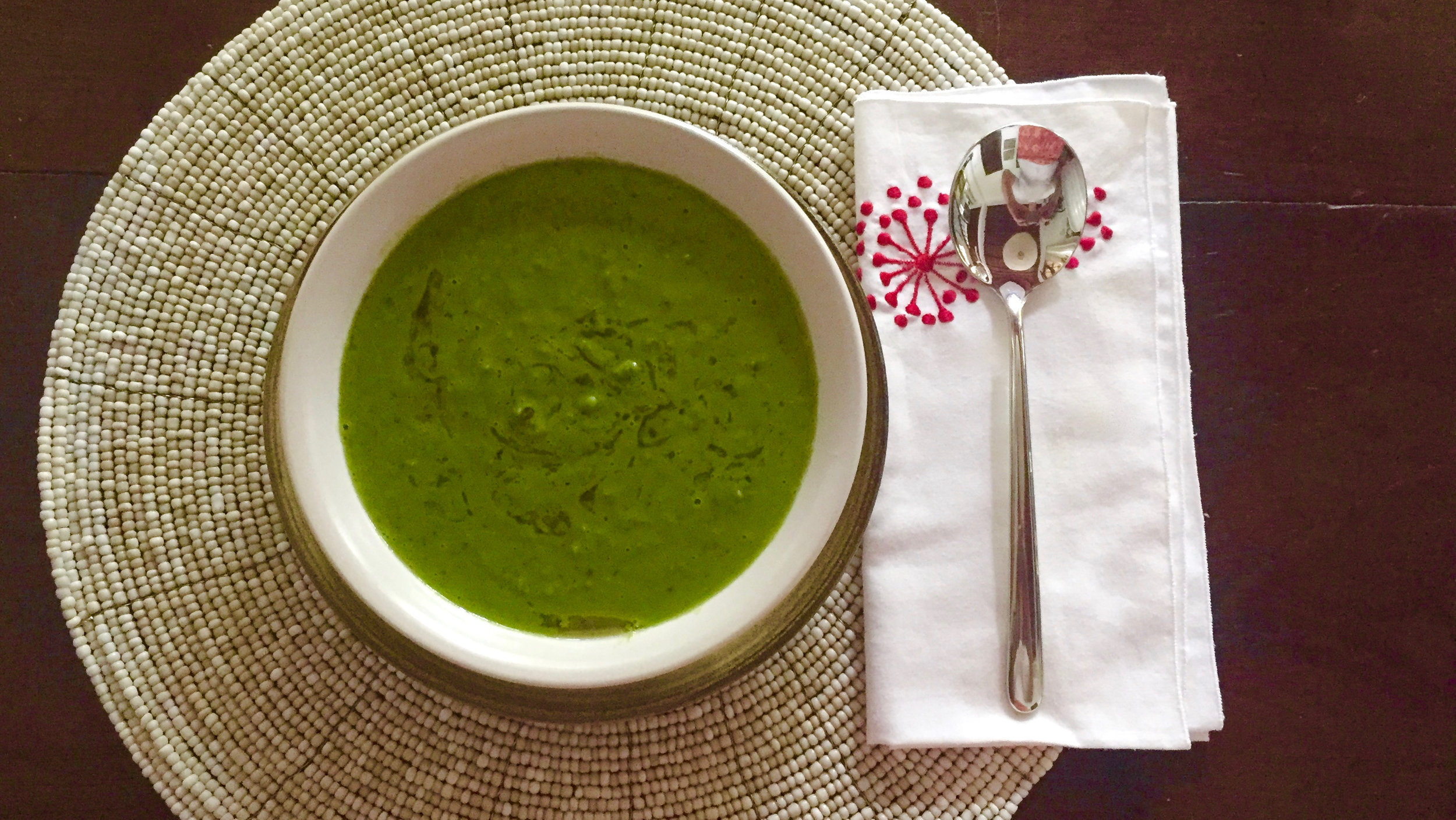 A healthy and zesty pea soup I prepared today
