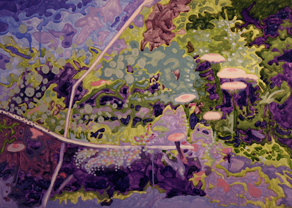 Mushroom lichen