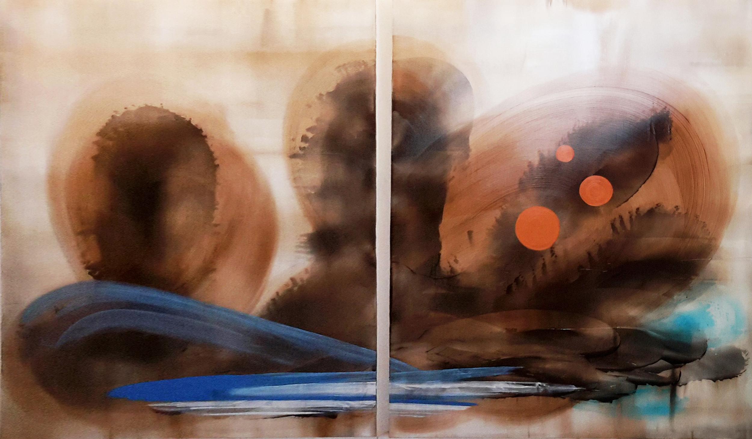 Acrylic on panel 60x48 each panel
