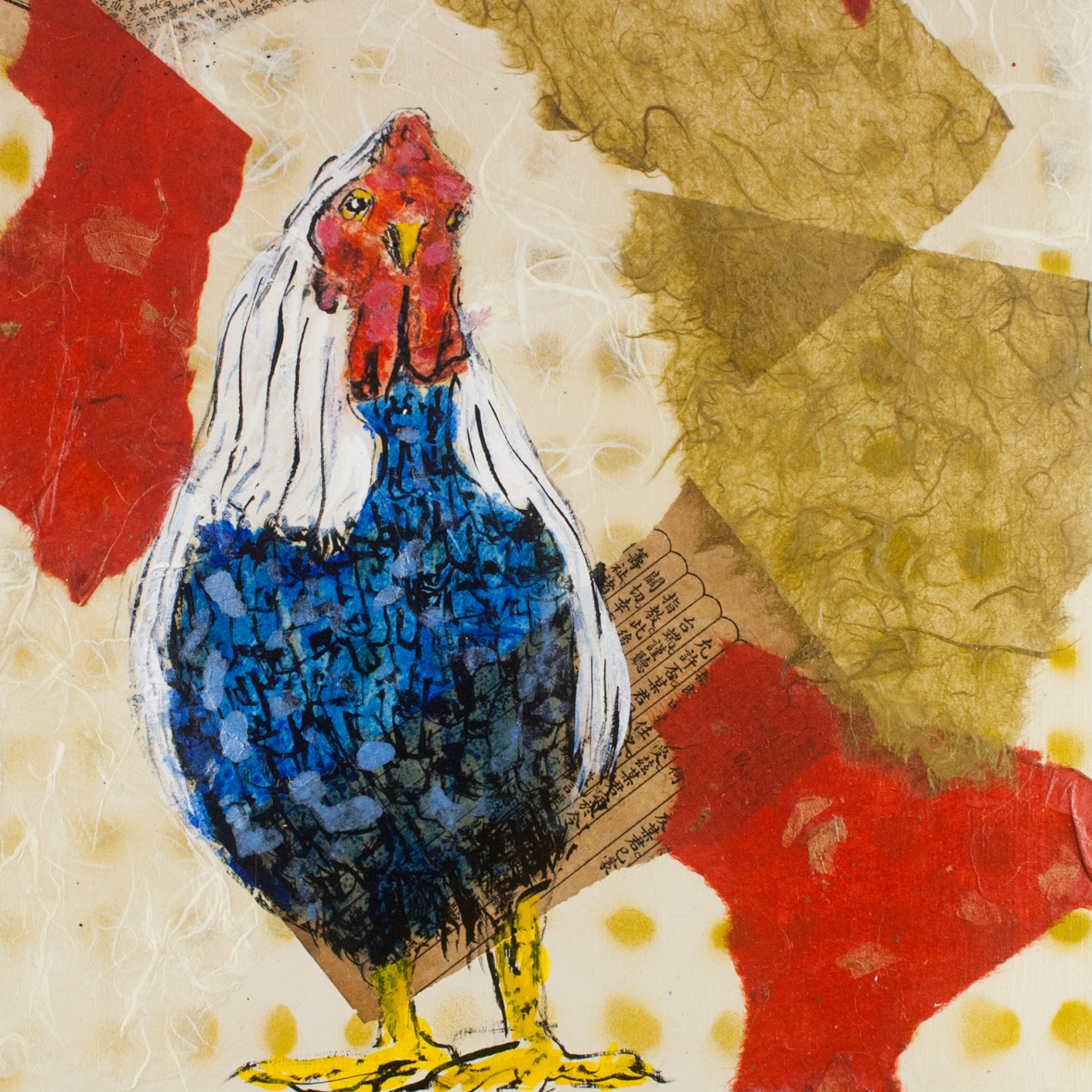 Little Roosters: Ravi20149 X 14Mixed Media on Canvas$100