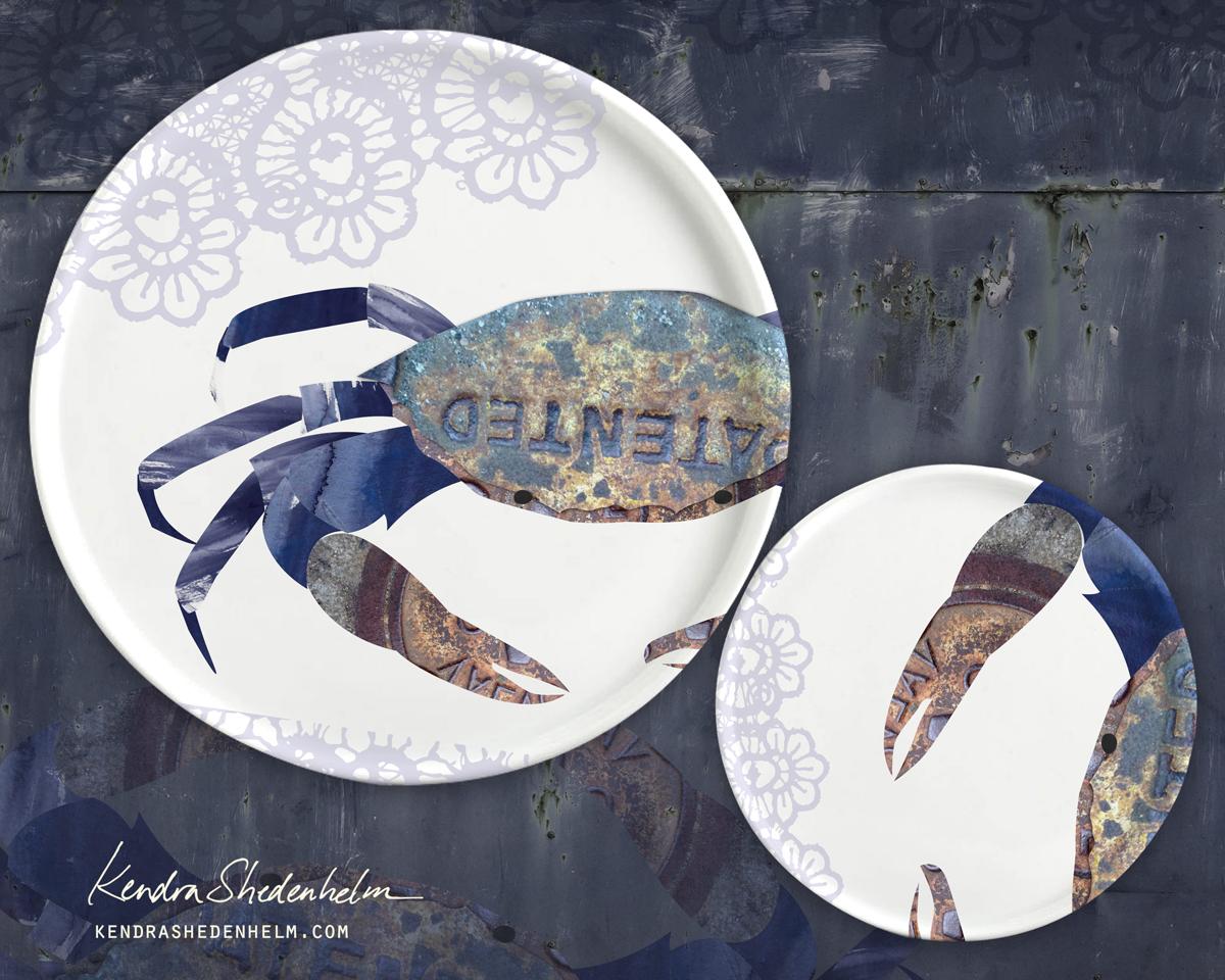 KendraShedenhelm_MakeArtThatSells_Crab_Plate