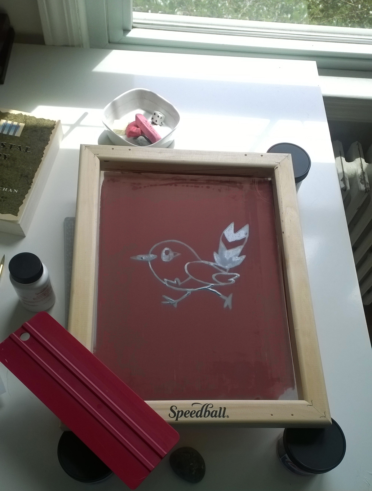 Kendra Shedenhelm_Pokemon_Birthday_Silkscreen_DIY_process