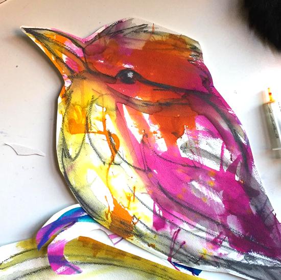 Kendra Shedenhelm_Bird_Paper Cutout_Sketch