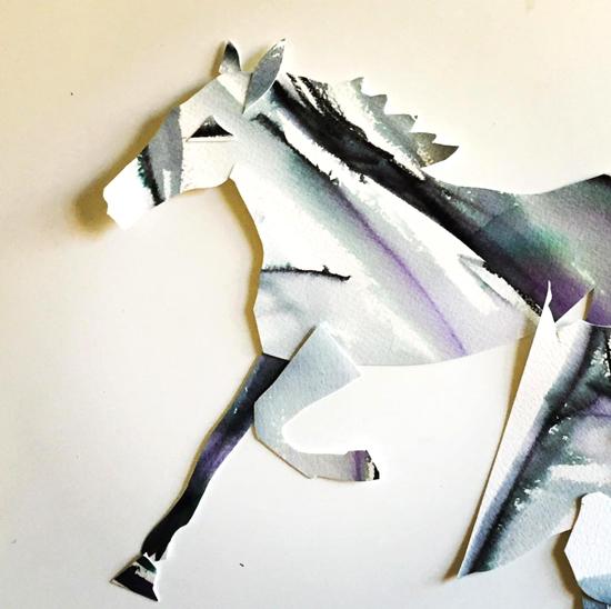 Kendra Shedenhelm_Horse_Paper Cutout_Sketch