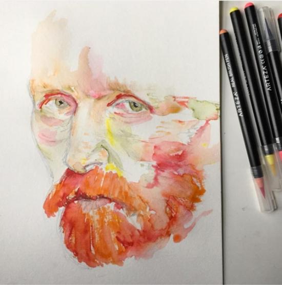Kendra Shedenhelm_Arteza_Van Gogh Portrait