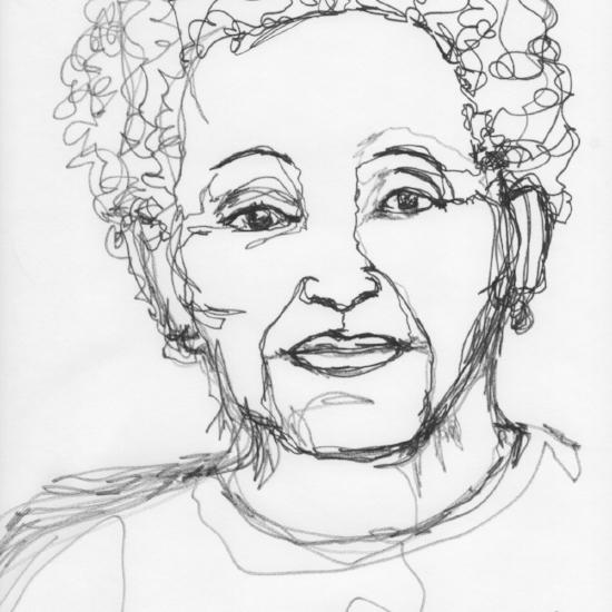 Kendra Shedenhelm_Continuous Line Drawing_Portrait_5
