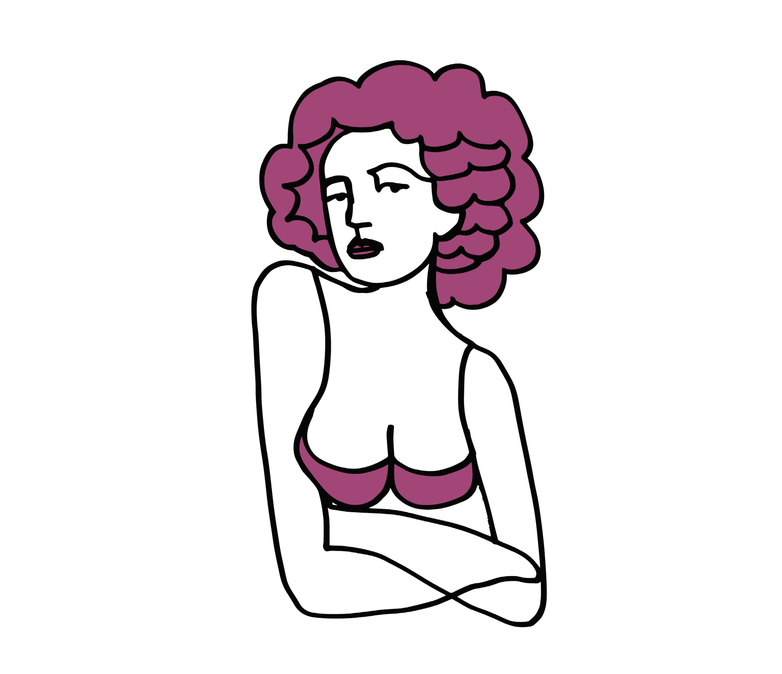 Kendra_Shedenhelm_ContinuousLineDrawing_Woman_PurpleBra