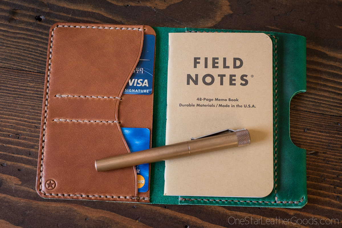 "PARK SLOPER SENIOR (PSS), $125  5.5"" x 3.5"" Field Notes or other similar notebook, medium and full size pens Perfect for carry in a purse, bag or back pocket."