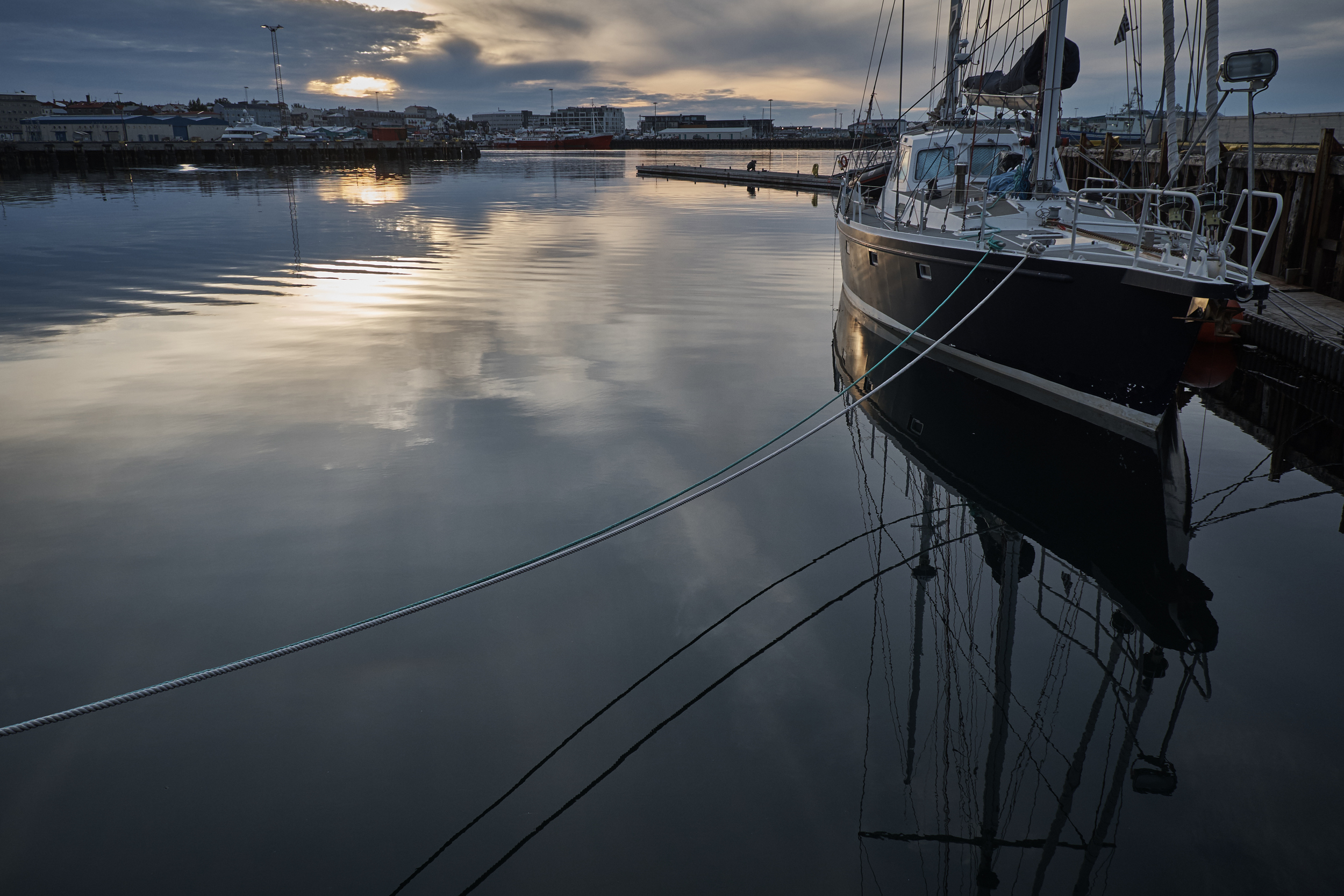 Moored in Reykjavik Harbour