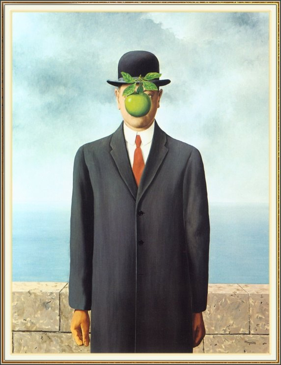 René Magritte,  The Son of Man.  1964.