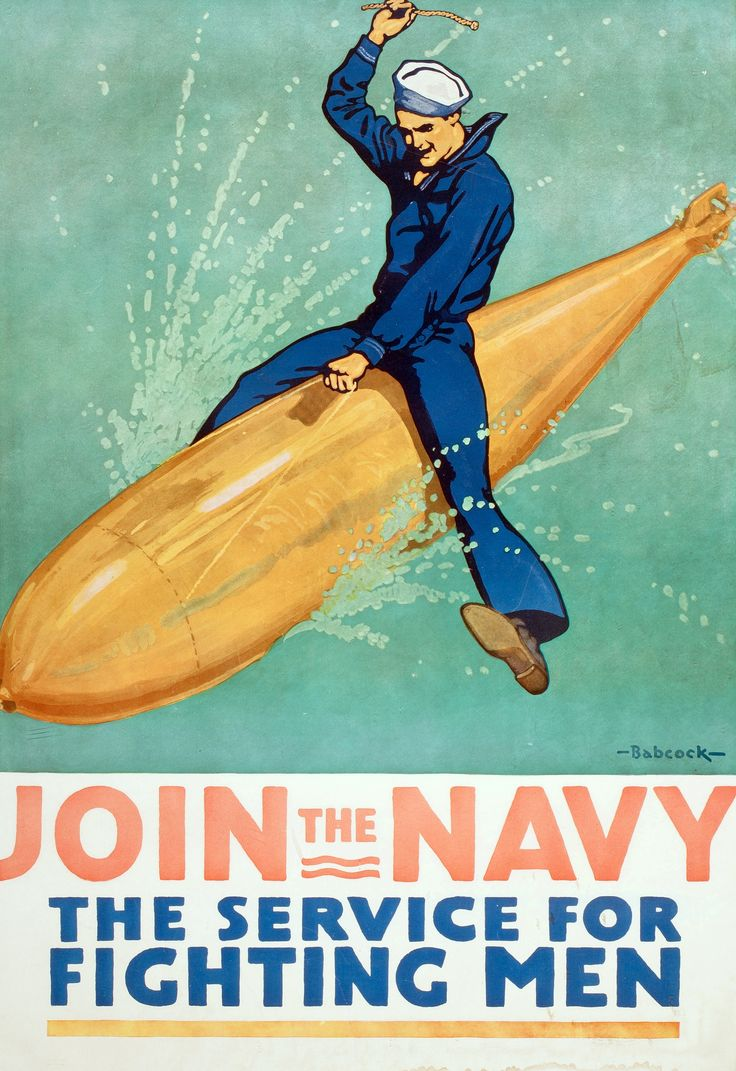Richard Fayerweather Babcock,  Join the Navy , c. 1917