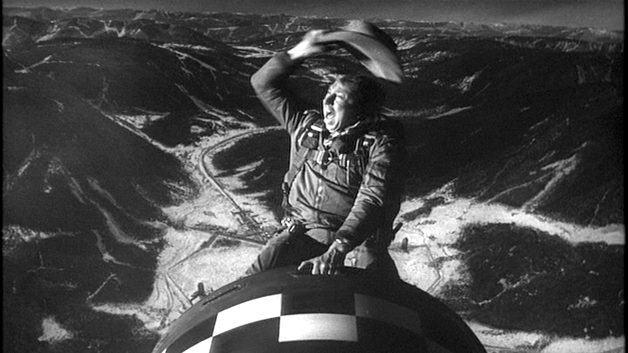 Actor Slim Pickens in a still from  Dr. Strangelove . Columbia Pictures, 1964.
