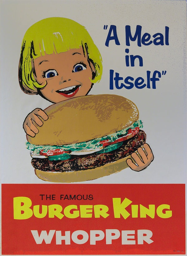 Burger King advertisement, 1960s.