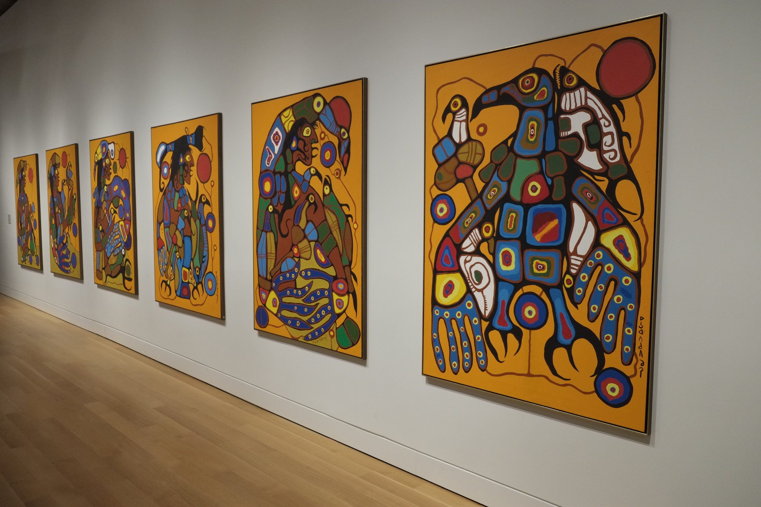 View of Norval Morrisseau's,  Man Changing into Thunderbird , 1977