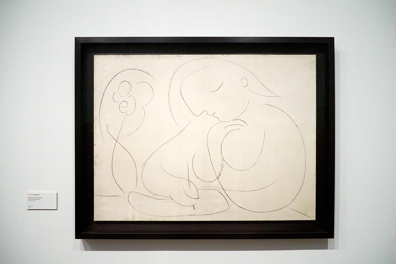 Pablo Picasso —  Femme à la fleur, écrivant , 1932