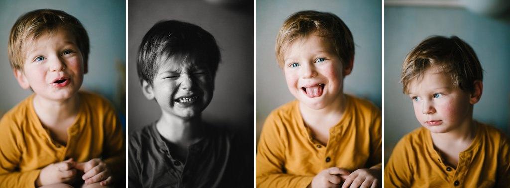 Un mini-séance que je considérais comme ratée et qui me fait rigoler maintenant ! Je retrouve bien mon garçon ! Merci le reflex qui m'a permis de saisi toute cette panoplie d'expressions !