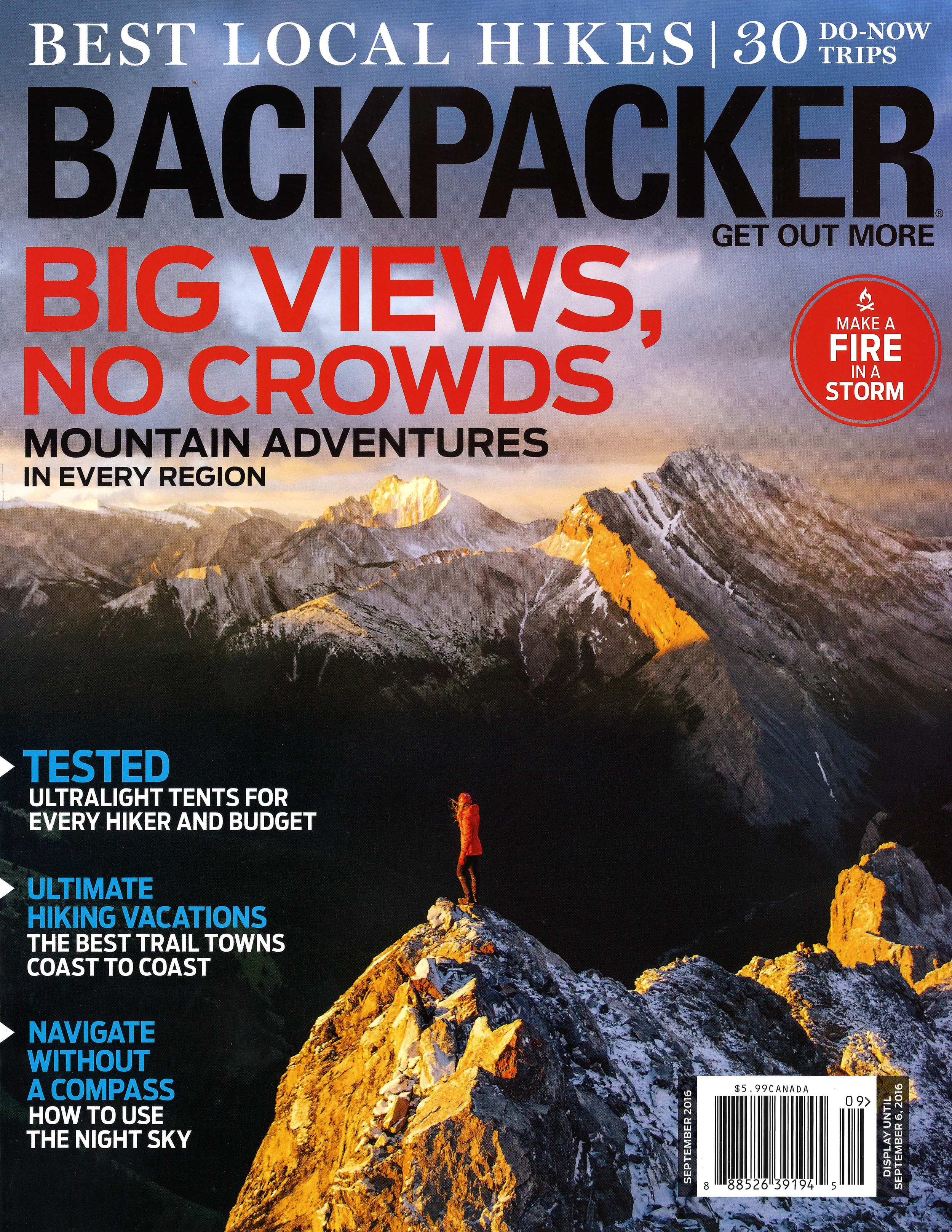 Backpacker Magazine September 2016