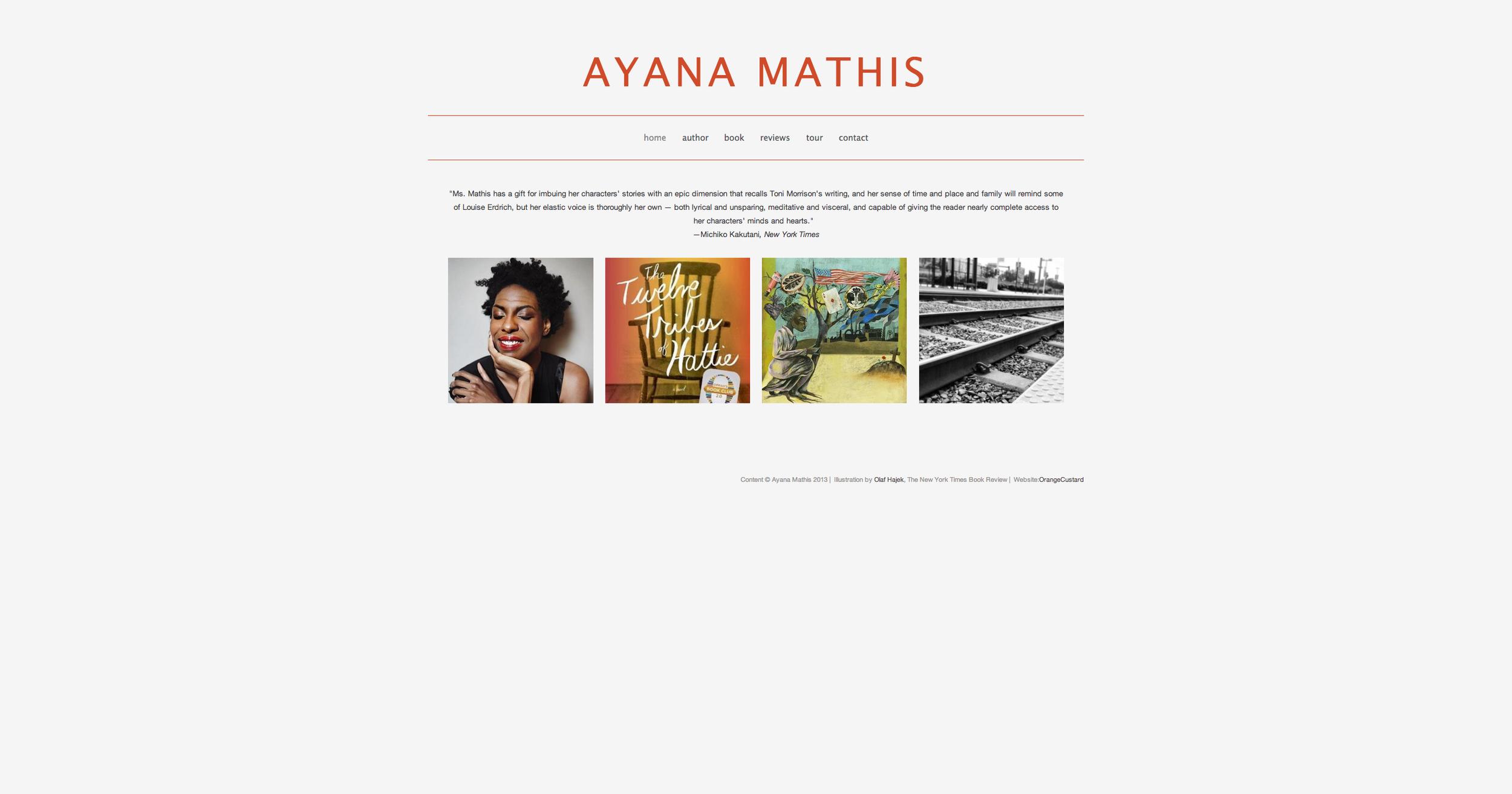 Author Ayana Mathis