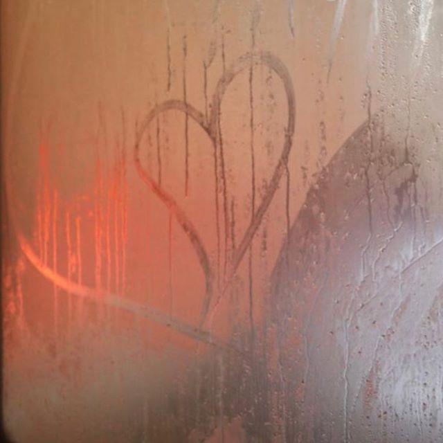 I draw hearts on windows