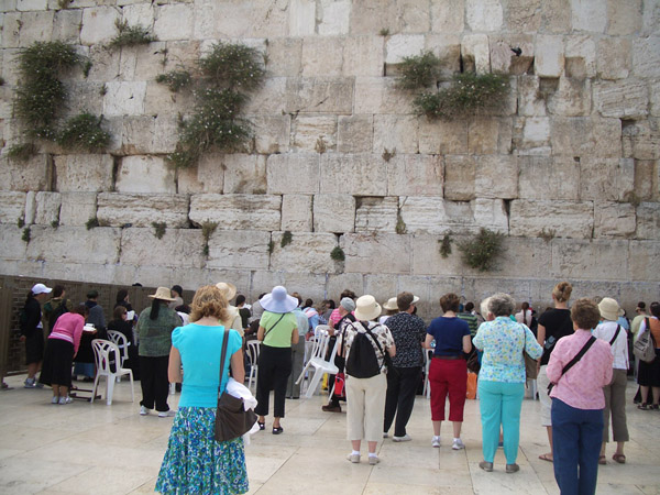 Wailing Wall (aka Western Wall) at Temple site in Jerusalem.