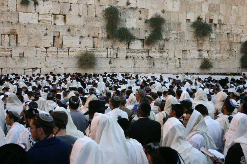 The men's section at the Western Wall