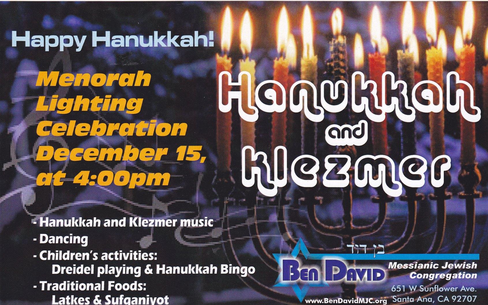 Chanukah Celebration for Christians!