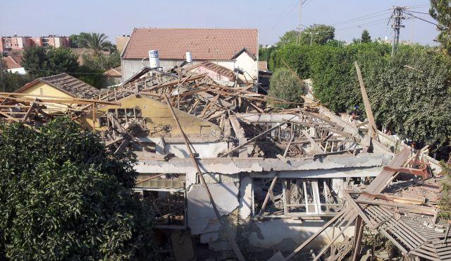 Netivot house destroyed