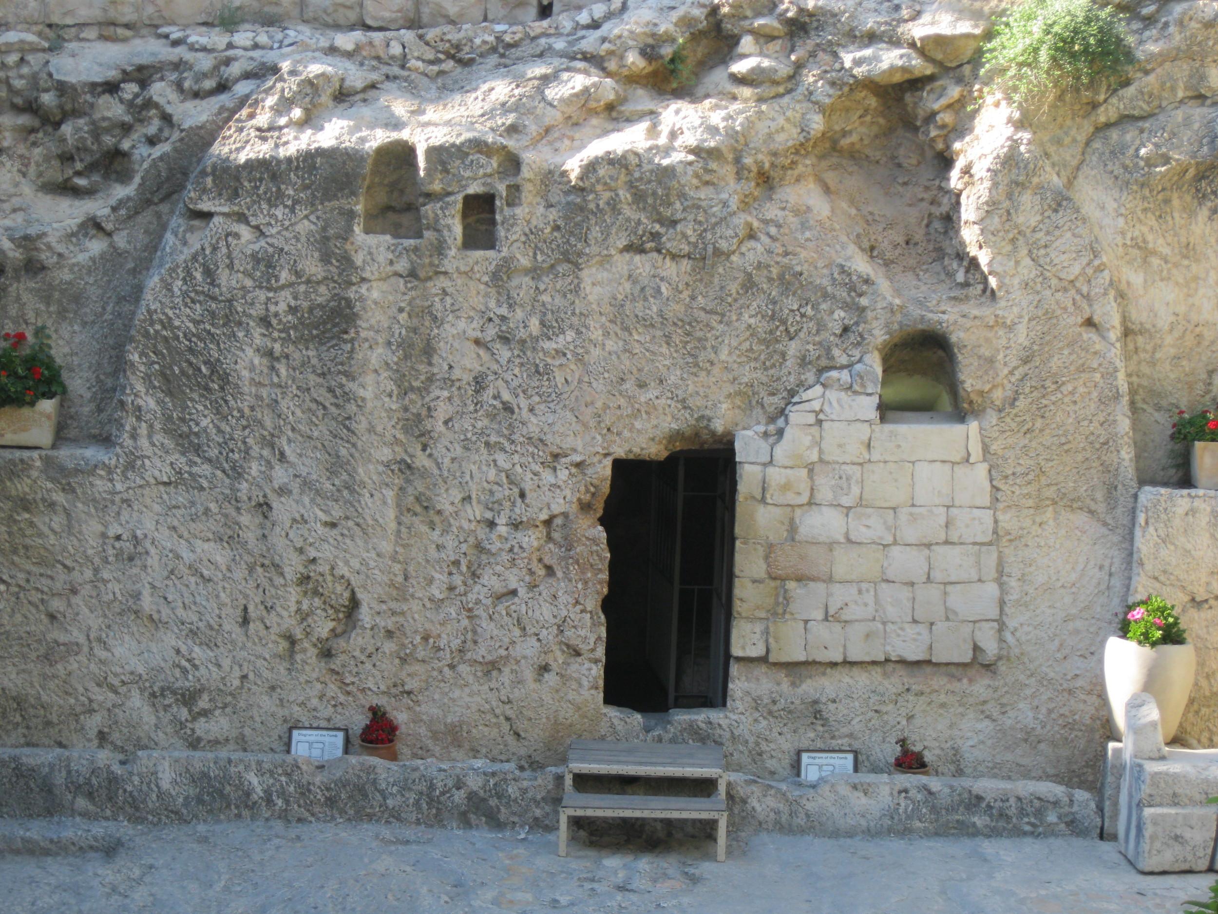 Tomb where Jesus was buried