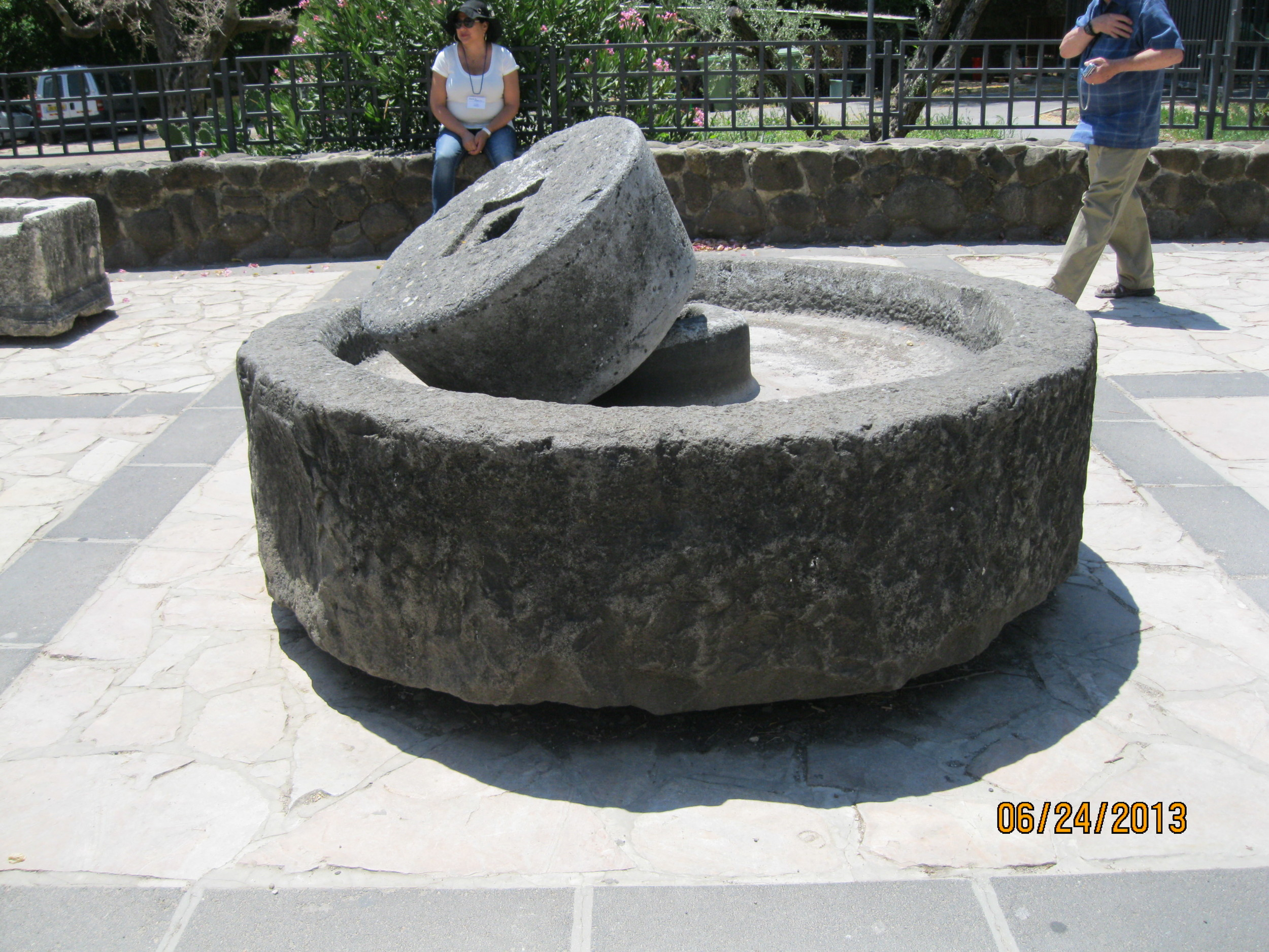 Millstones where Olive Oil was Pressed