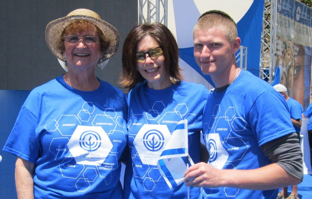 Volunteers at the Israel Expo
