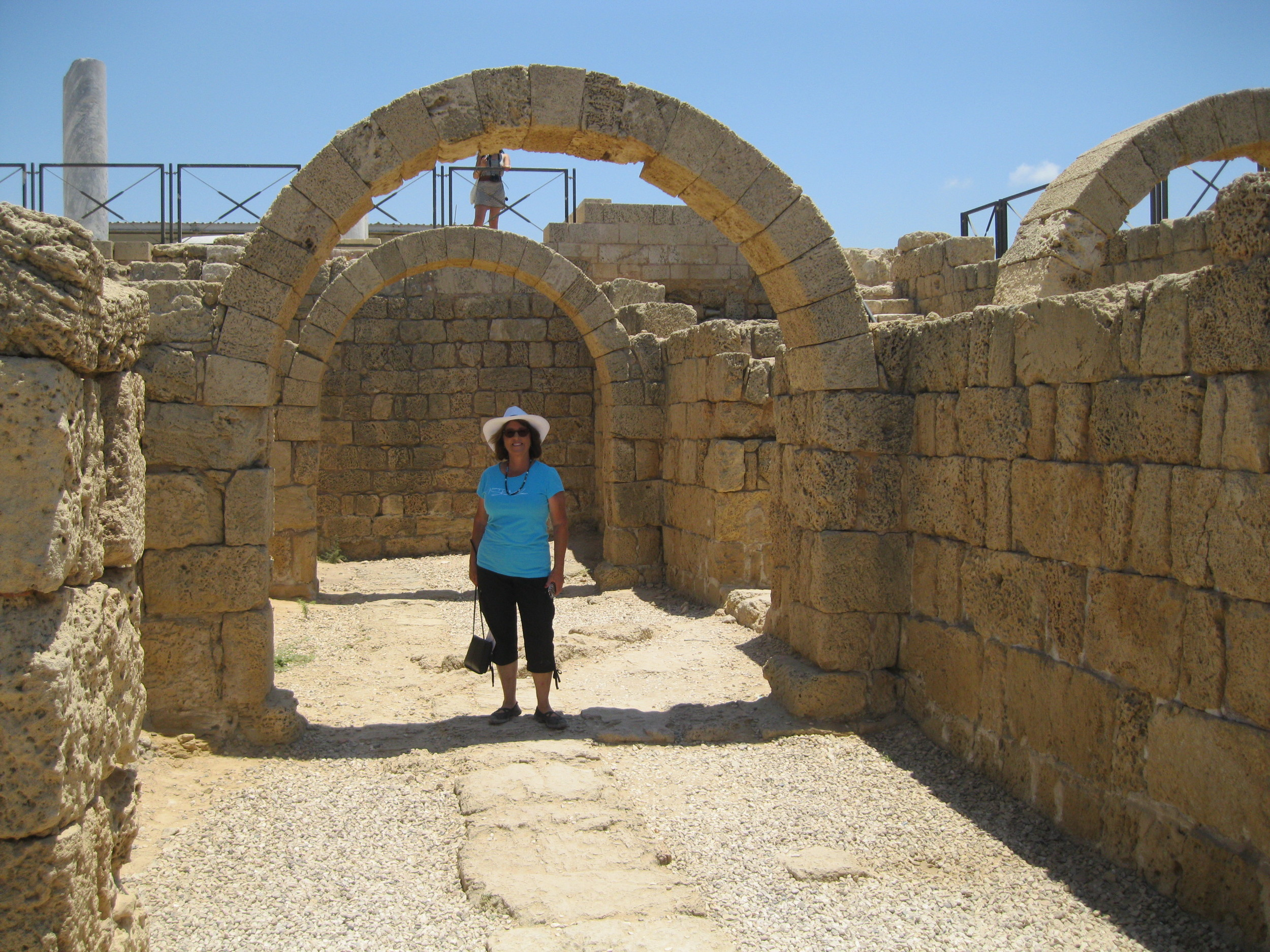 An arch remains at Caesarea by the Sea