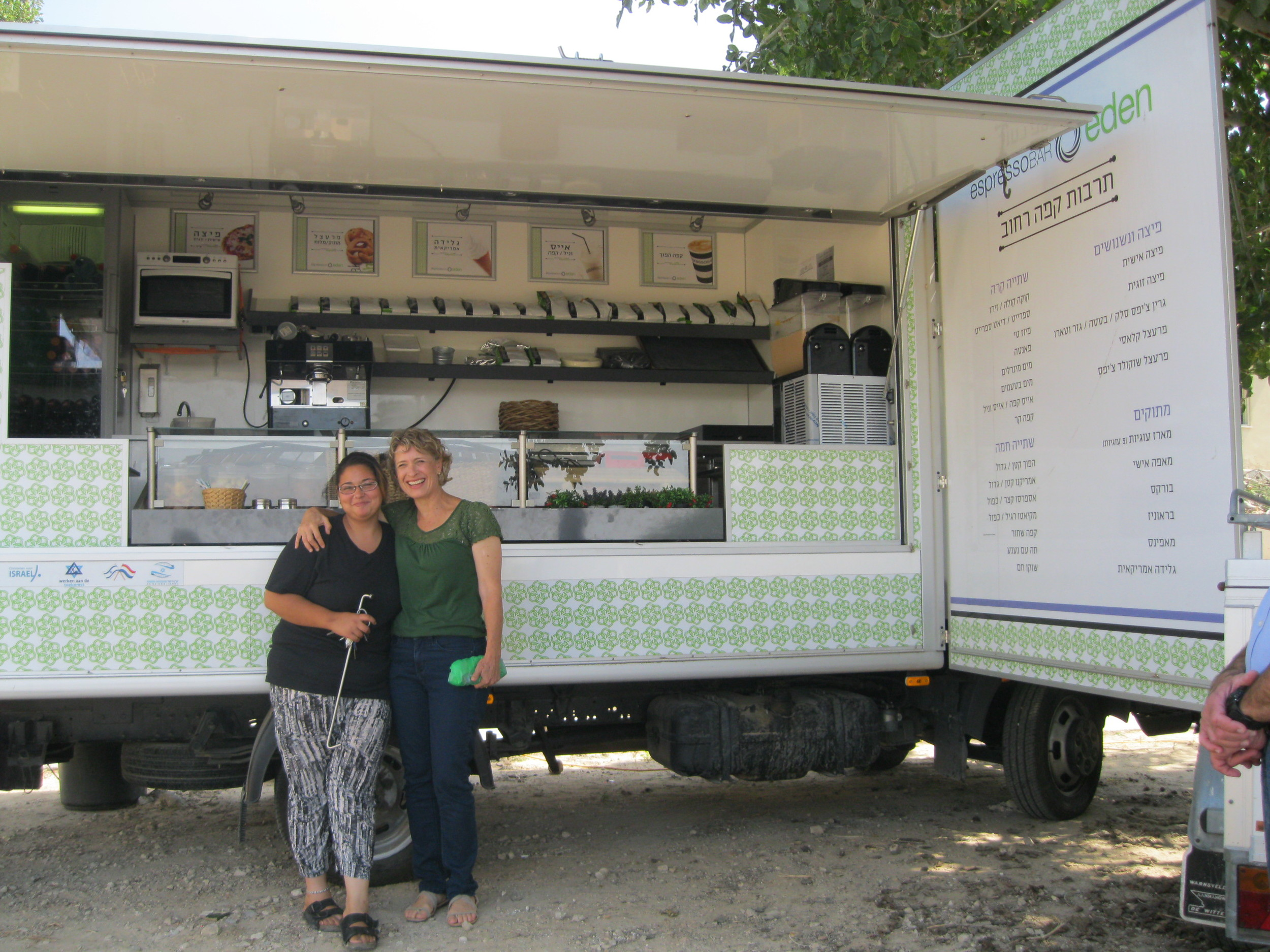 The Eden Center food/coffee truck.