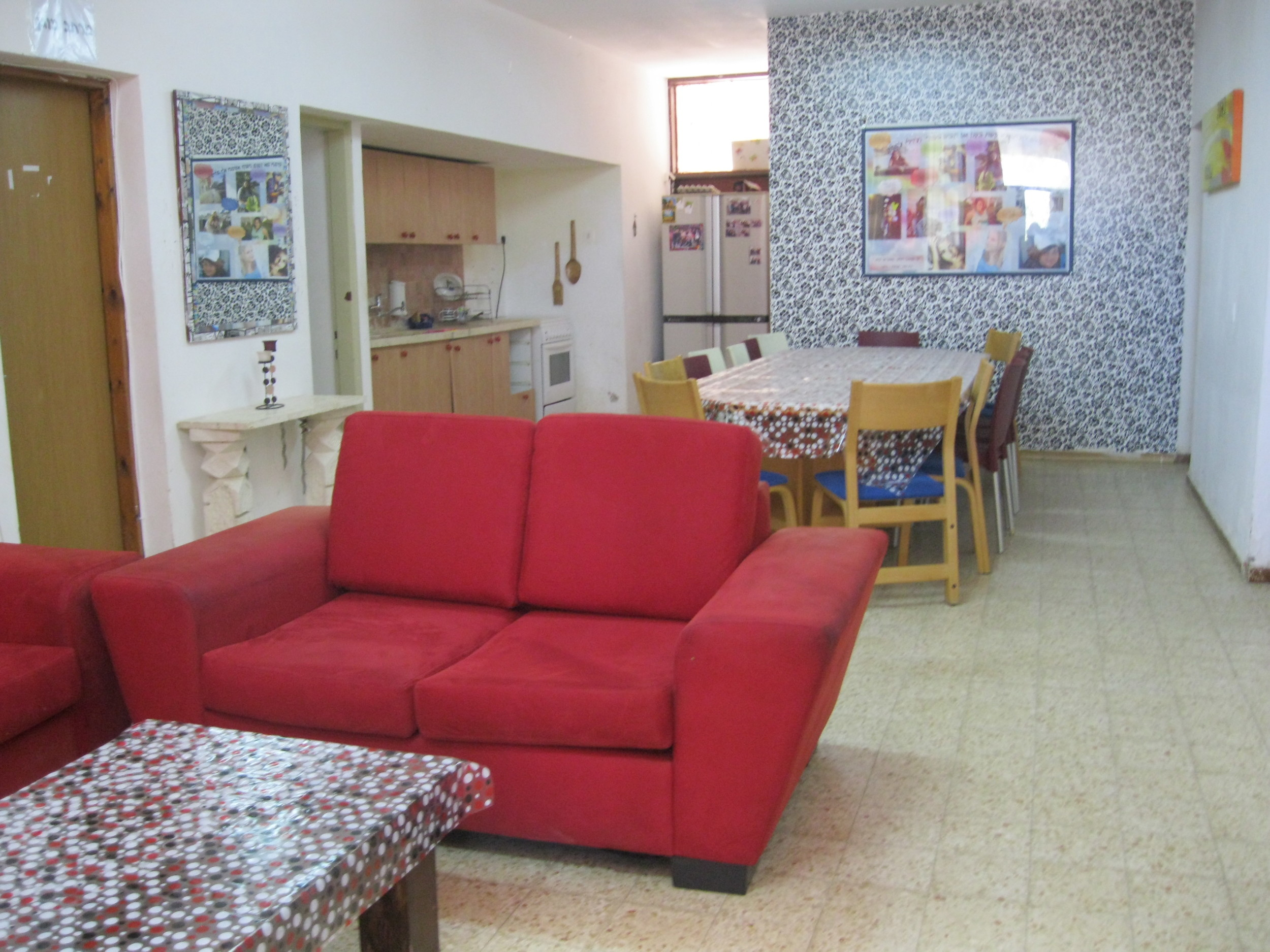 Donated furniture helped redecorate one of the dorms