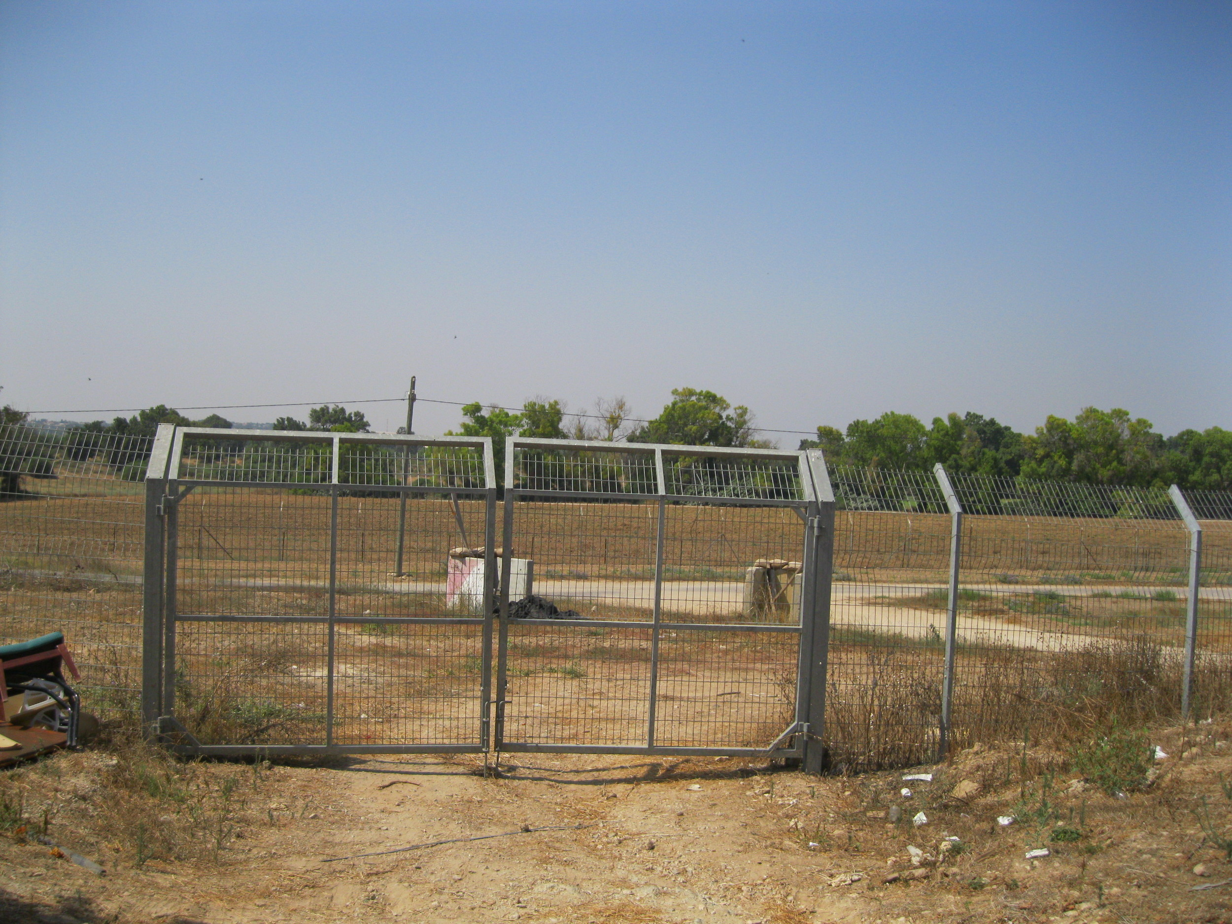 Just beyond this gate was the outpost for the Israel Defense Force during last year's Operation Protective Edge War