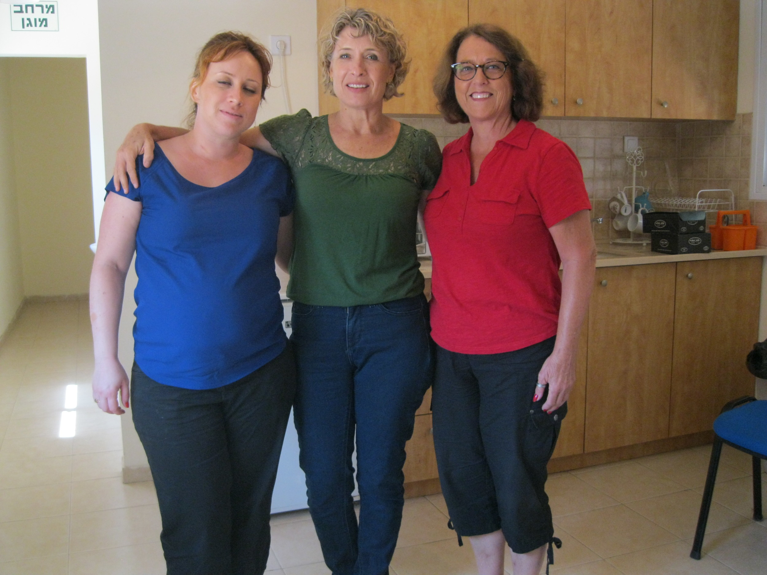 Deby is with the Director, Shirley, and her assistant at the Eden Center for girls just two miles from the Gaza border