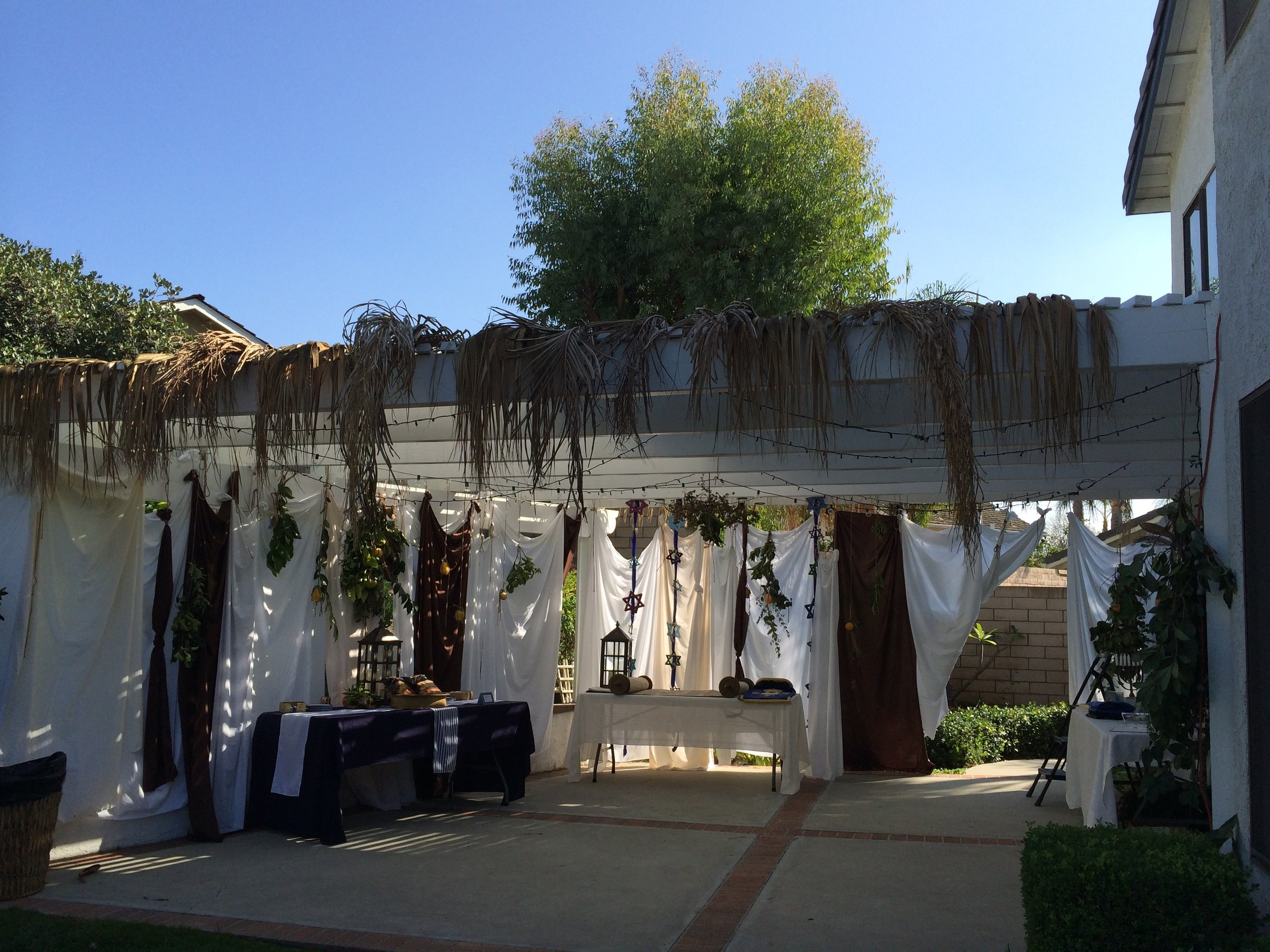 Our non-Kosher Sukkah at our last feast