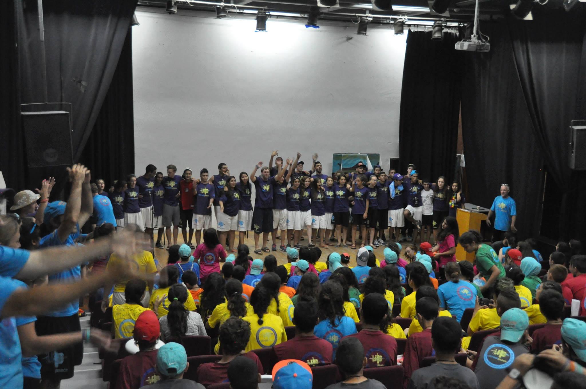 Kfar Silver Students on stage.jpg