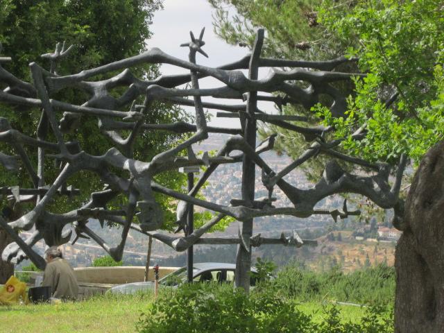 Broken Arms and Legs Art at Holocaust Museum - Yad Vashem