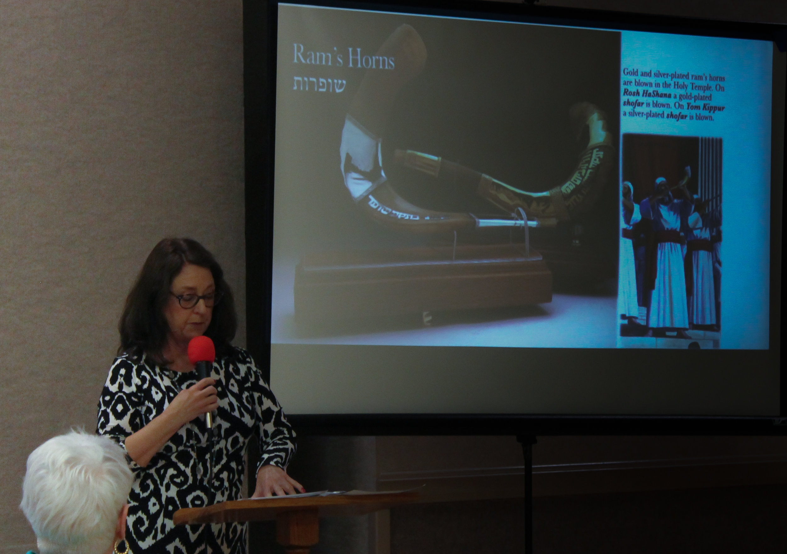 Deby Brown shared about the Temple Institute in Israel
