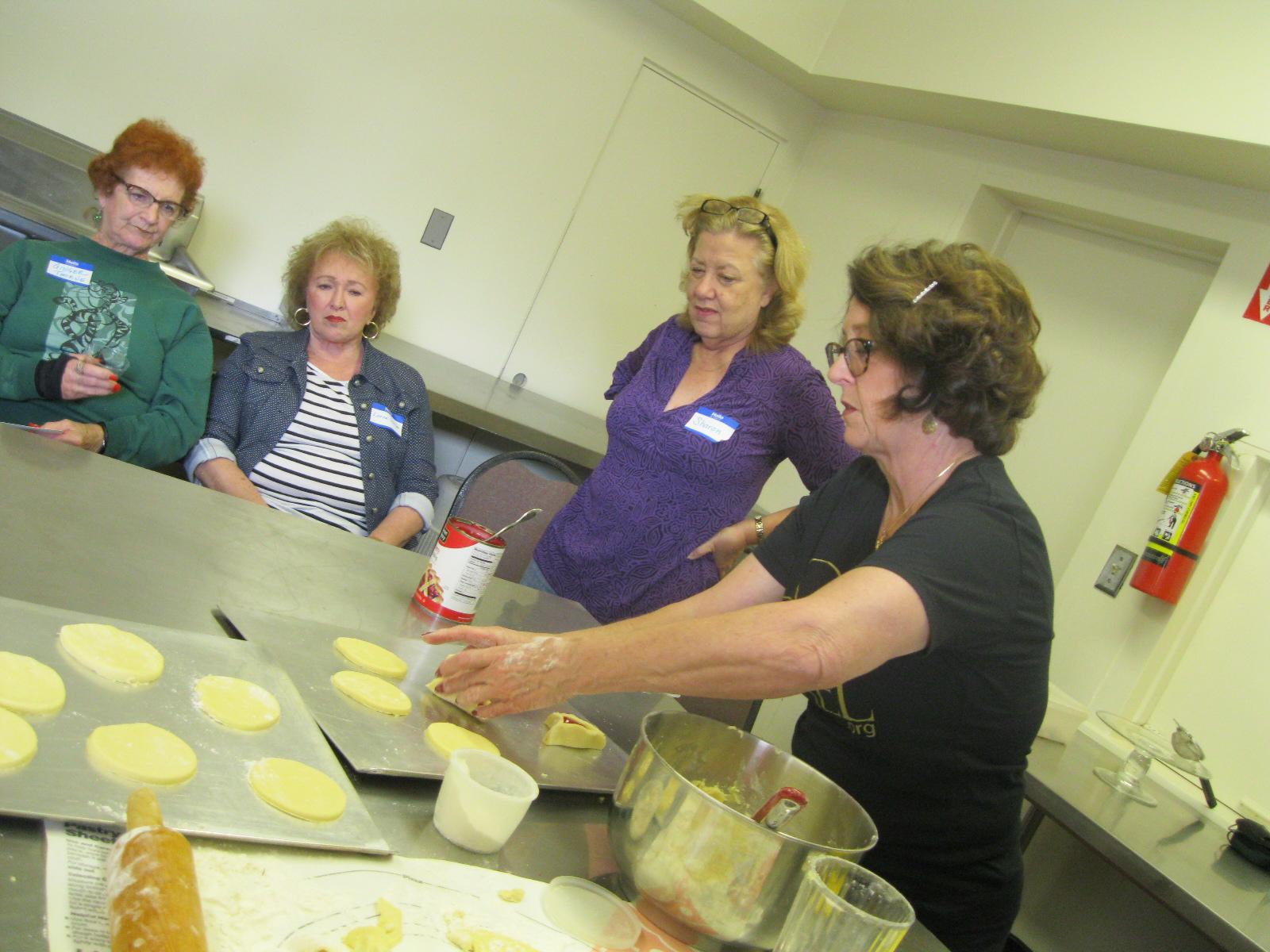 Purim Cookie Baking Demonstration 2013