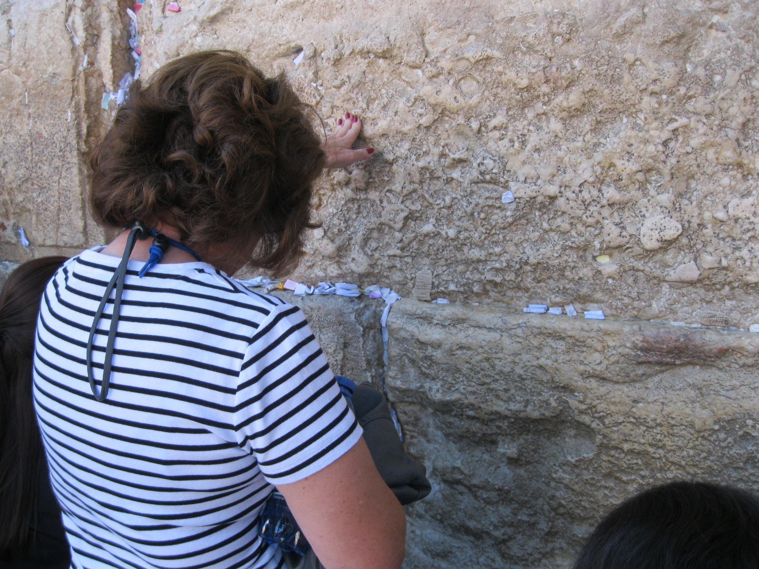 Western Wall Prayers - Israel Tour 2013
