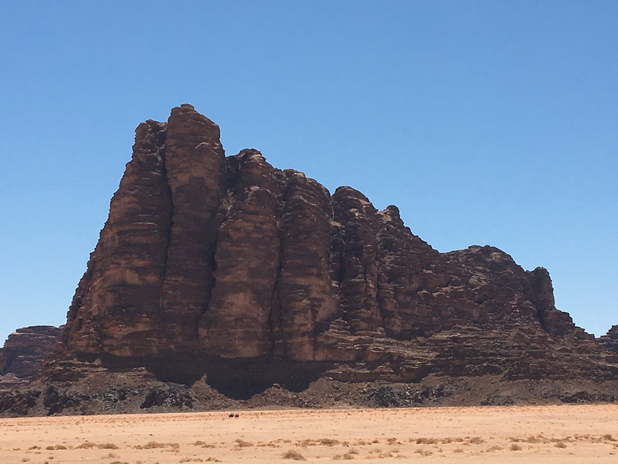 This mountain in the Jordanian dessert was the center of attention in the movie, Lawrence of Arabia