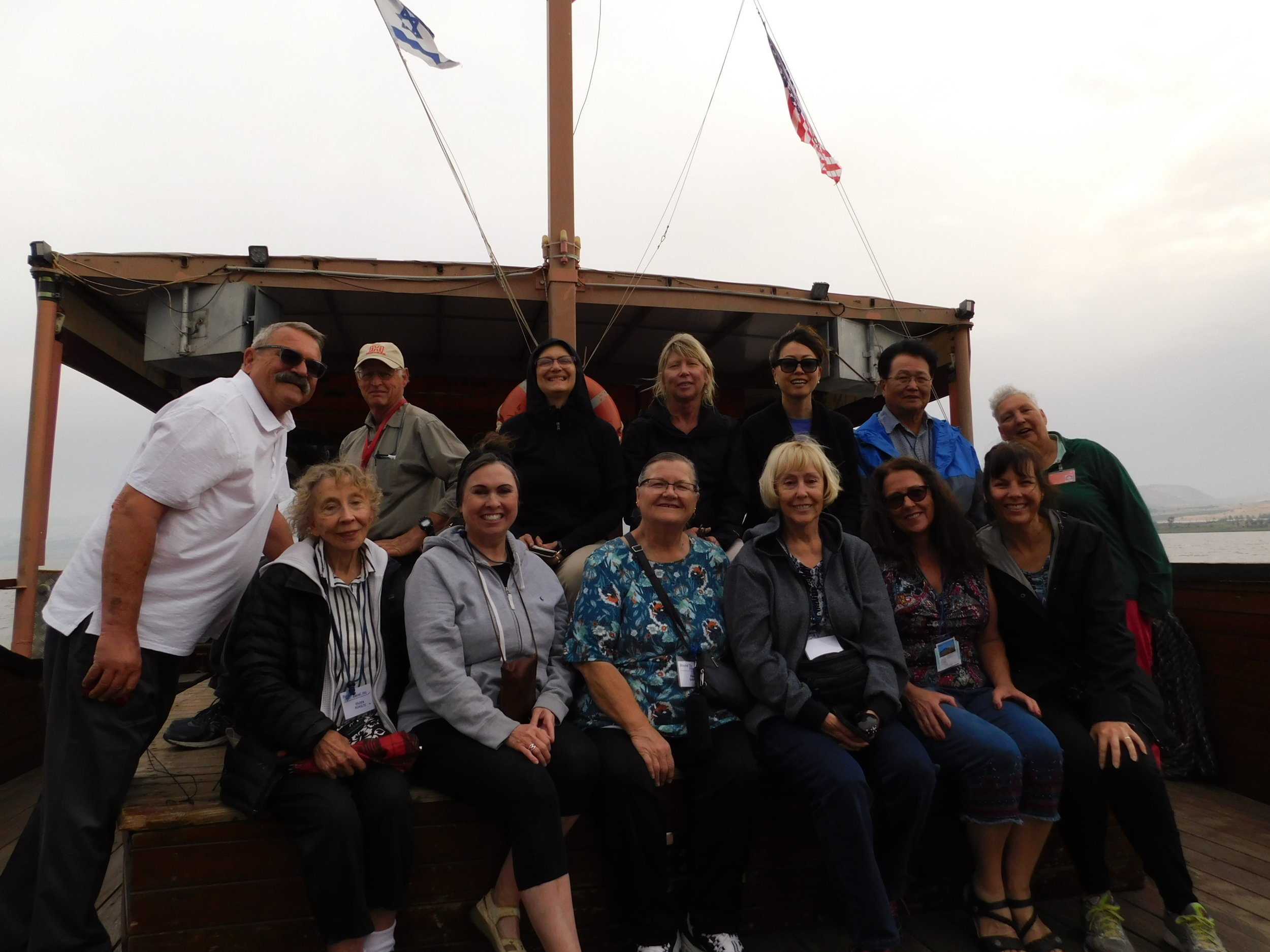 """We rode the """"Jesus Boat"""" on the Sea of Galilee"""