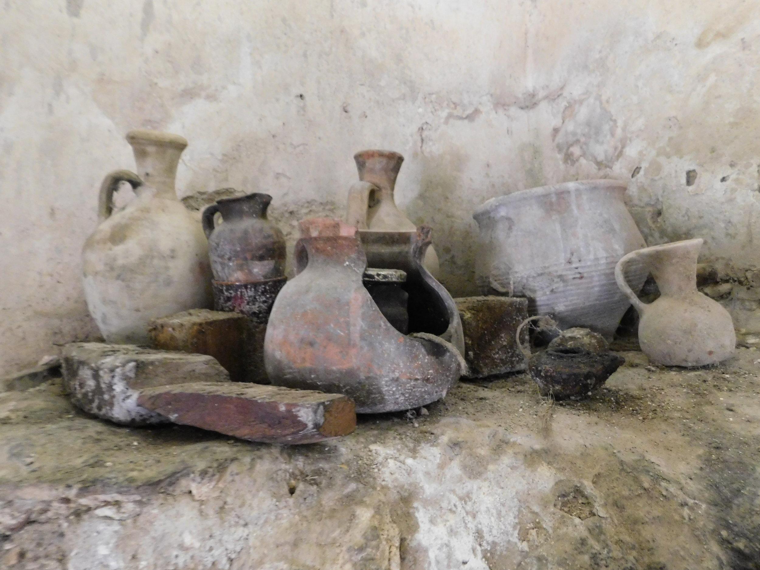 Pots at Nazareth Village
