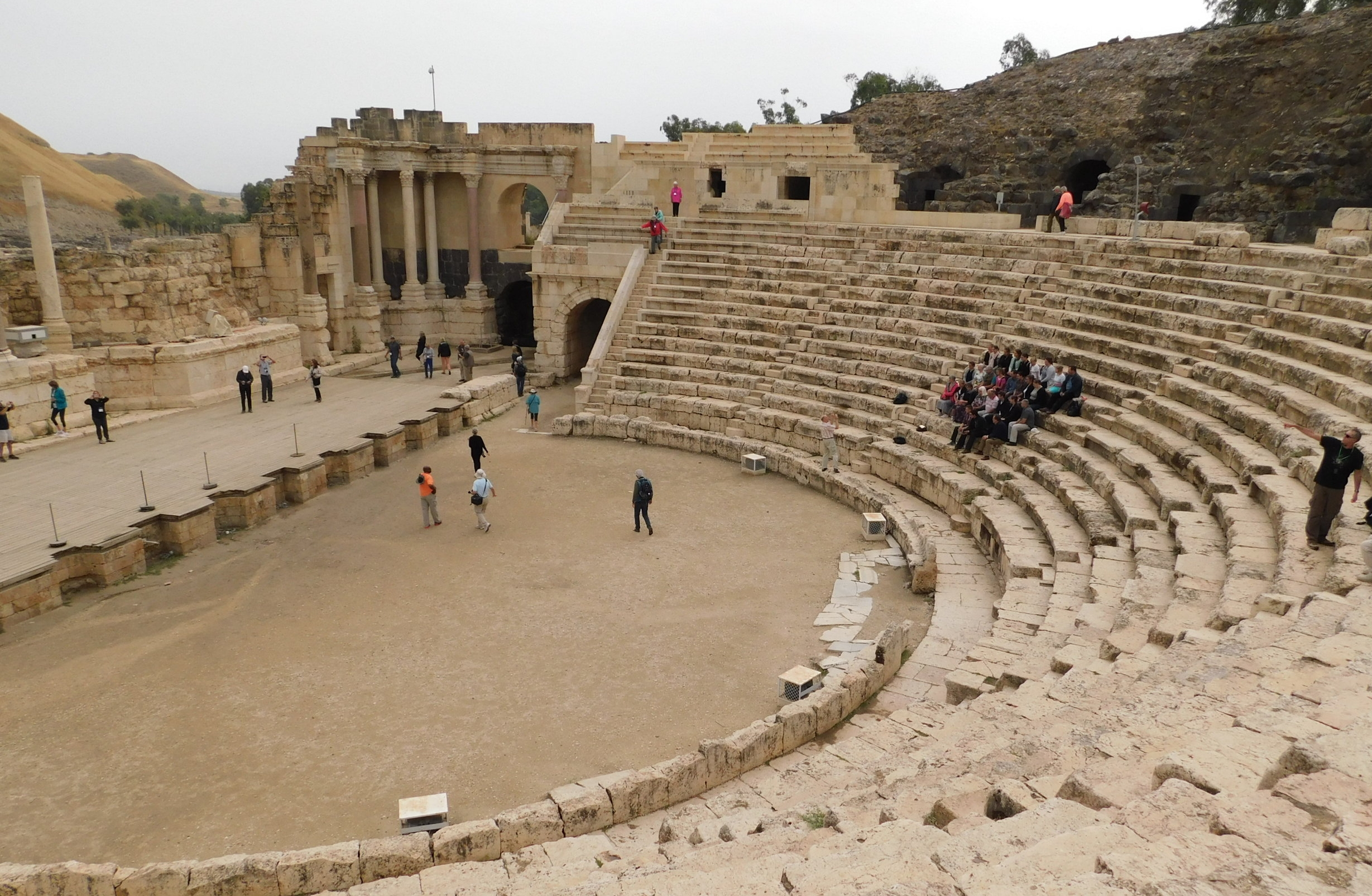Amphitheatre at Beit She'an, a Philistine area.