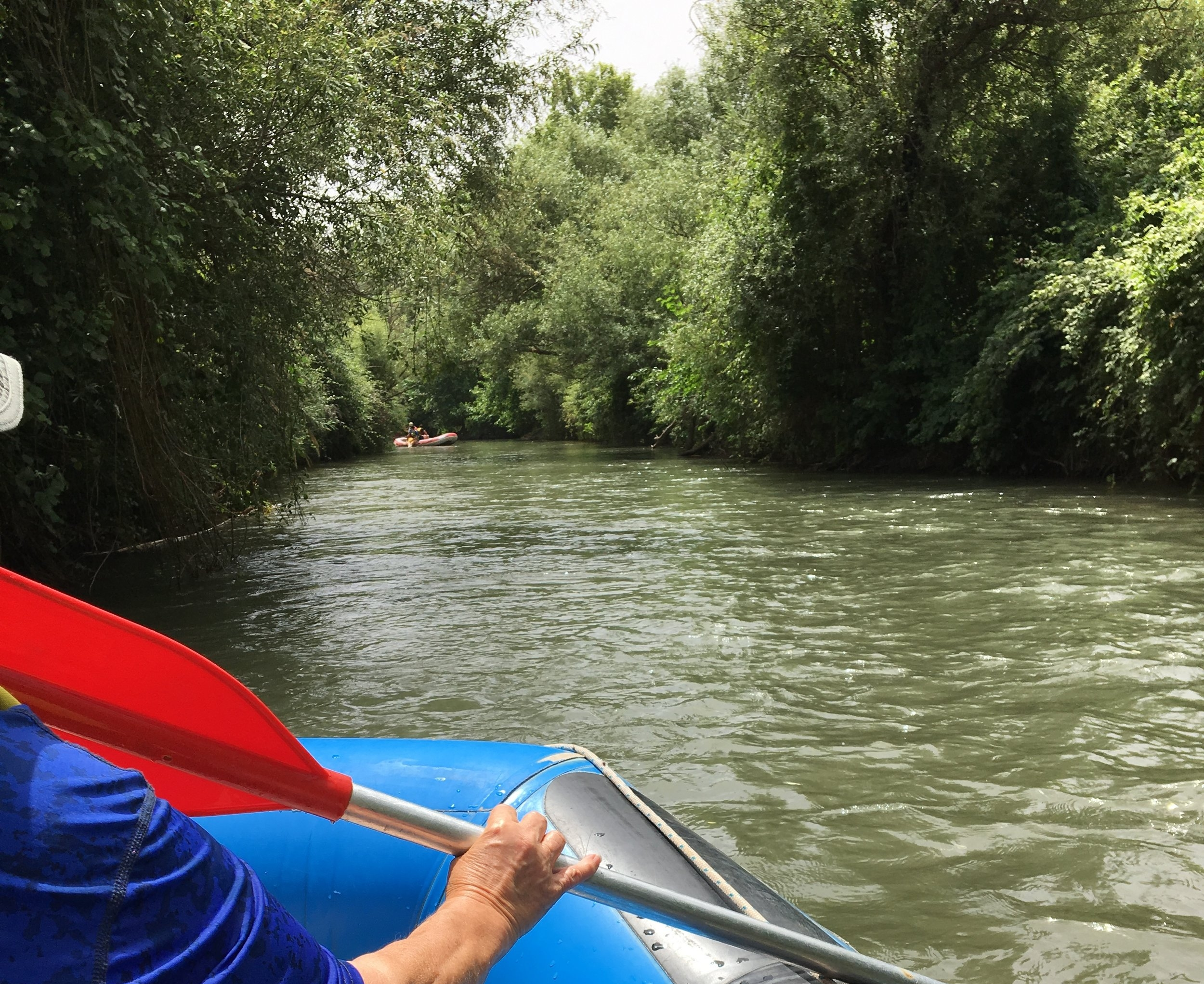 White-water rafting on the Jordan River