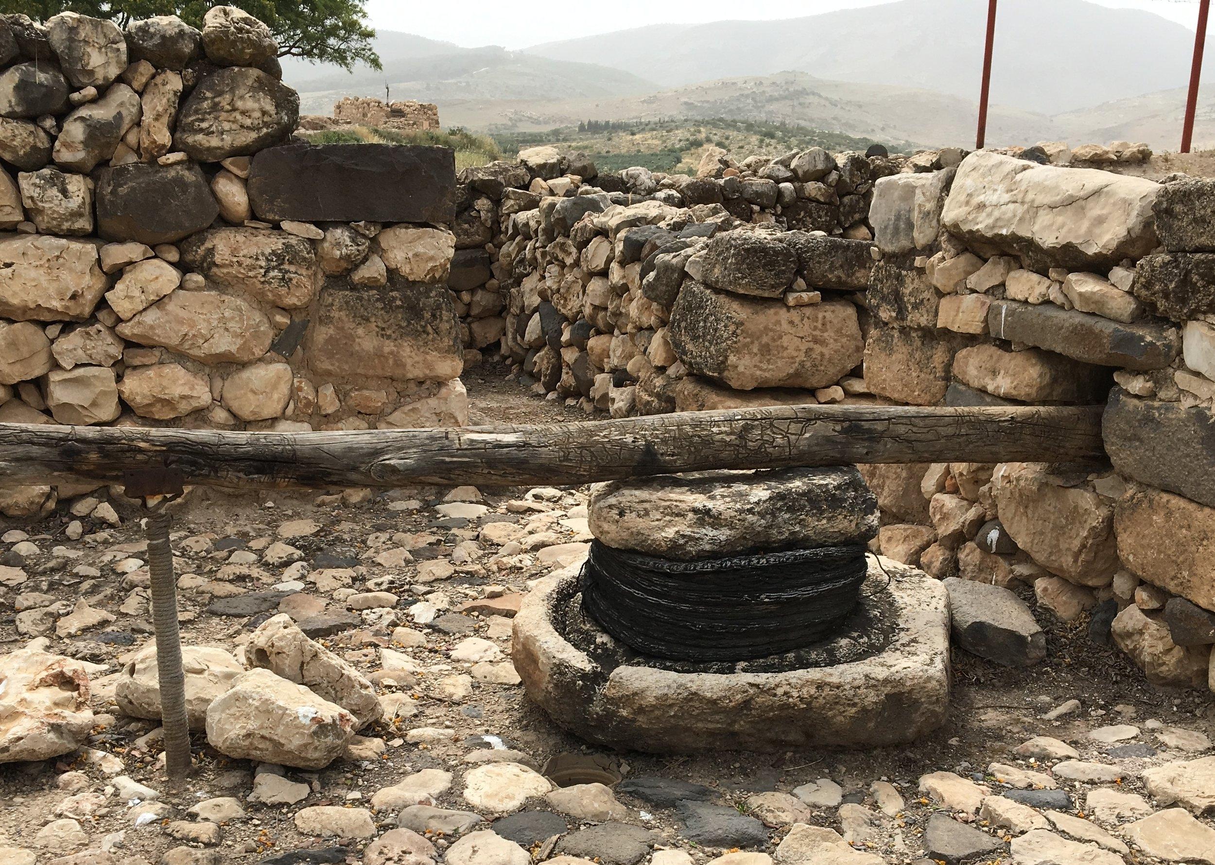 A Wine Press at Hazor