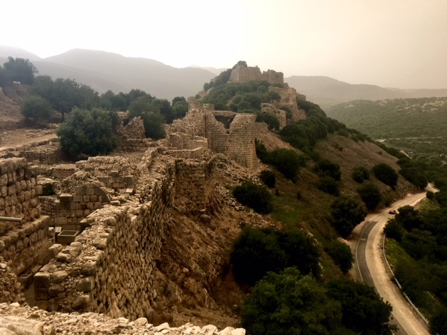 Nimrod's Fortress with the Road to Damascus to the right