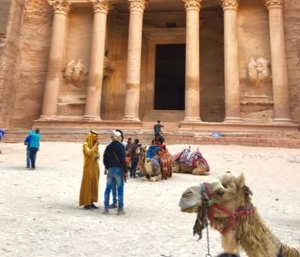 The Treasury building in Petra, Jordan